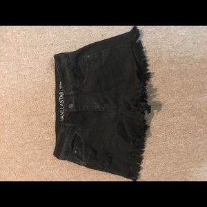 Women's black jean shorts